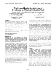 Developing an Affective Evaluation Tool - Katherine Isbister