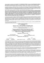 Admission Document - Nostra Terra Oil and Gas Company plc