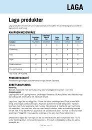 Laga produkter - Finja