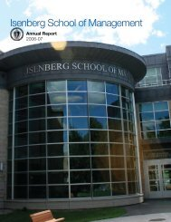 Isenberg School of Management - The Virtual Center for ...