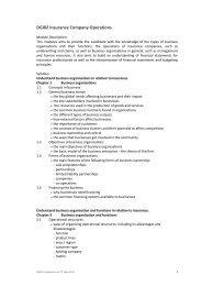 DGI02 Insurance Company Operations - Singapore College of ...