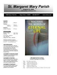 August 23, 2009 - Saint Margaret Mary Parish