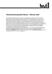Themenschwerpunkte Jänner – Februar 2008 - brut wien