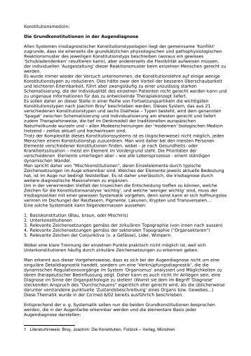Lymphatische Konstitution - Rhizoma Seminare