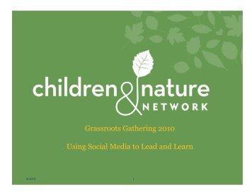 Social Media for Social Change [PDF] - Children & Nature Network