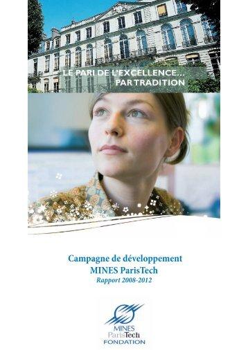 Le rapport de la campagne 2008-2012 - MINES ParisTech