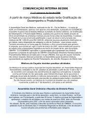 COMUNICAÇÃO INTERNA 80/2006 A partir de março Médicos do ...