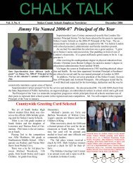 Jimmy Via Named 2006-07 Principal of the Year - Stokes County ...