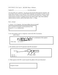 ECE 3724/CS 3124 Test #1 – Fall 2003- Reese Solutions Student ID ...