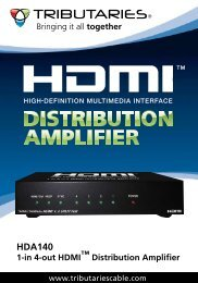 HDA140 1-in 4-out HDMI™ Distribution Amplifier - Tributaries Cable