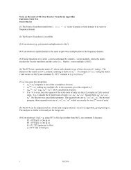 Notes on Recursive FFT (Fast Fourier Transform) algorithm Fall ...