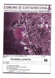 tav. relazione illustrativa.pdf - Comune di Civitavecchia