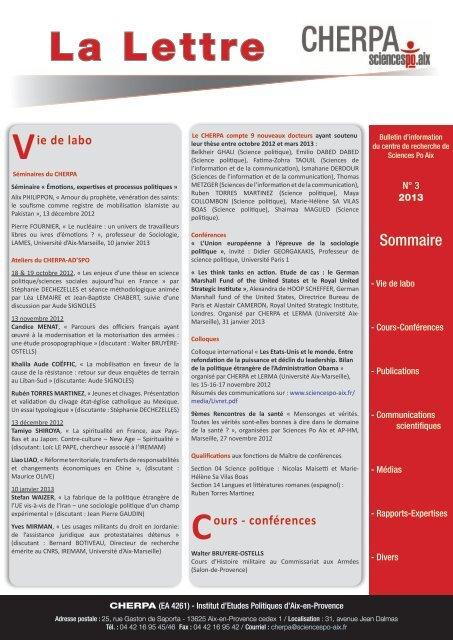 La Lettre - Sciences Po Aix