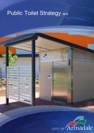 Public Toilet Strategy 2013 - City of Armadale