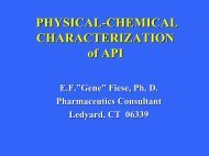 PHYSICAL-CHEMICAL CHARACTERIZATION of API