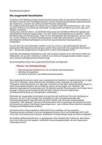 Die oxygenoide Konstitution - Rhizoma Seminare