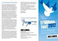 22. Strausberger Friedensfest - DIE LINKE. Märkisch-Oderland