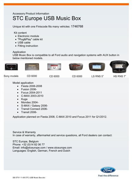 Accessory Product Informa