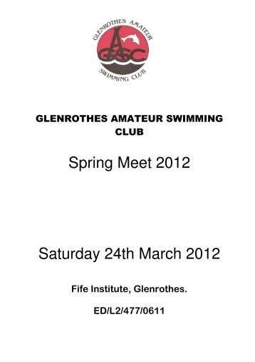 Glenrothes Spring Meet - Swim Scotland