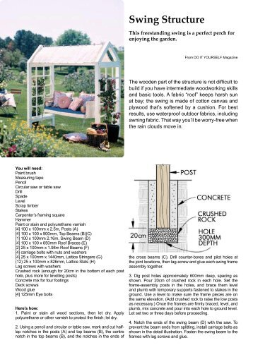 instructions for the Structure - Home-Dzine