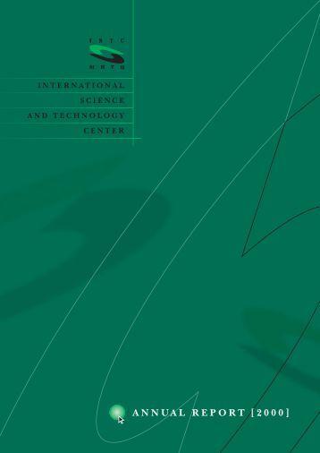 ANNUAL REPORT [2000] - ISTC