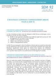 3 nouveaux contrats d'aménagement urbain pour la SEM 92. 18 ...