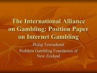 The International Alliance on Gambling: Position Paper on Internet ...