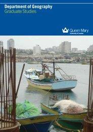 Graduate Studies brochure - School of Geography - Queen Mary ...