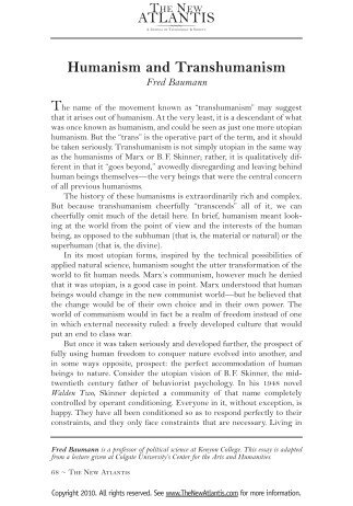 the new atlantis thesis The new atlantis, founded in 2003, is a quarterly journal about the social, ethical, political, and policy dimensions of modern science and technology the journal is published in washington, dc by the social conservative advocacy group the ethics and public policy center in partnership with the center for the study of technology and.
