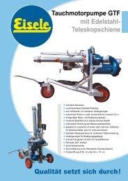 Tauchmotorpumpe GTF mit Edelstahl - Franz Eisele u. Söhne GmbH ...