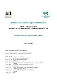 programma provvisorio della giornata - IPASVI - Roma