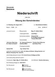 Protokoll vom 2.8.2011 (124 KB) - .PDF - Natters - Land Tirol