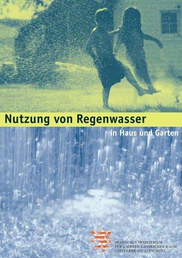 Nutzung von Regenwasser - in Fulda