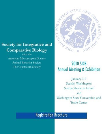 2010 SICB Annual Meeting & Exhibition Registration Brochure ...