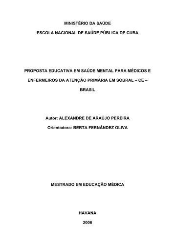 Proposta Educativa em Saúde Mental para Médicos e ... - CliniCAPS