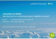 Lärmschutz am Boden: Was lässt sich zur Lärmminderung an Flughäfen ...