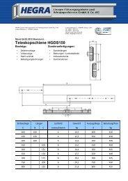 Teleskopschiene HGDS150 - Hegra Linear