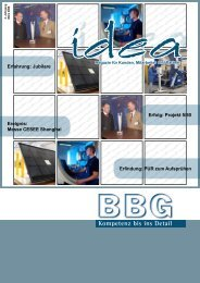 BBG Idea - März 2008 - BBG GmbH & Co. KG
