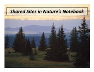 Shared Sites Primer - USA National Phenology Network