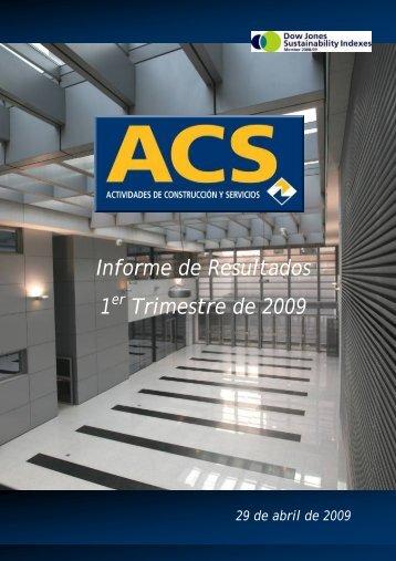 Informe Resultados 1T09 - Grupo ACS