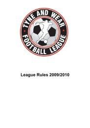 Dunsford Business Supplies Tyne & Wear League Rules - 2009-10