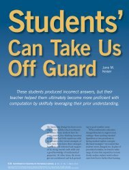 Students' Strategies Can Take Us Off Guard