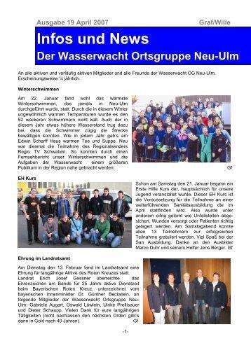Infos und News 19 - Wasserwacht Ortsgruppe Neu-Ulm