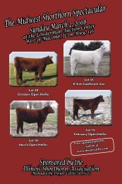 The Midwest Shorthorn Spectacular - Dwyer Cattle Services