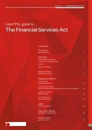 The Financial Services Act - LexisNexis