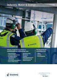 Brochure Industry, Water & Energy Services - Grontmij