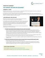 executive summary - The Alliance
