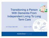 Transitions to Care Jan 14 2011.pdf - Canadian Dementia Resource ...