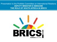 2. THE ROLE OF SOUTH AFRICA IN BRICS - SAFPI
