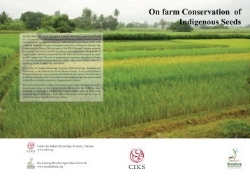 farm conservation of indigenous seeds